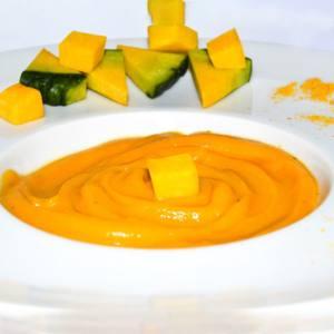 Crema de Calabaza con toque de Curry