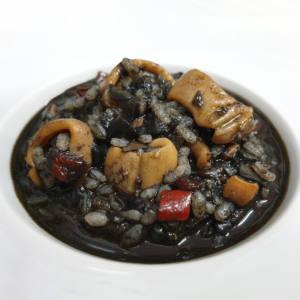 Arroz Negro con Calamares y Chipirones