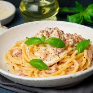 Espaguettis carbonara